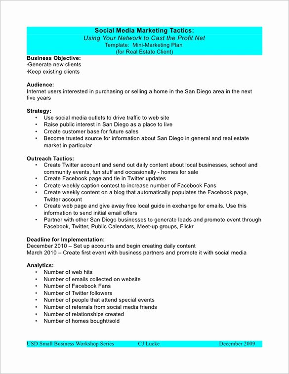 Marketing Plan Outline Template 13 Free Sample Example
