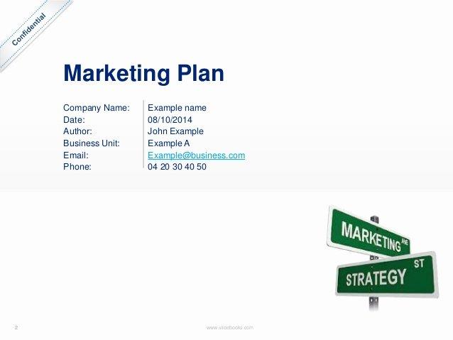 Marketing Plan Template In Powerpoint