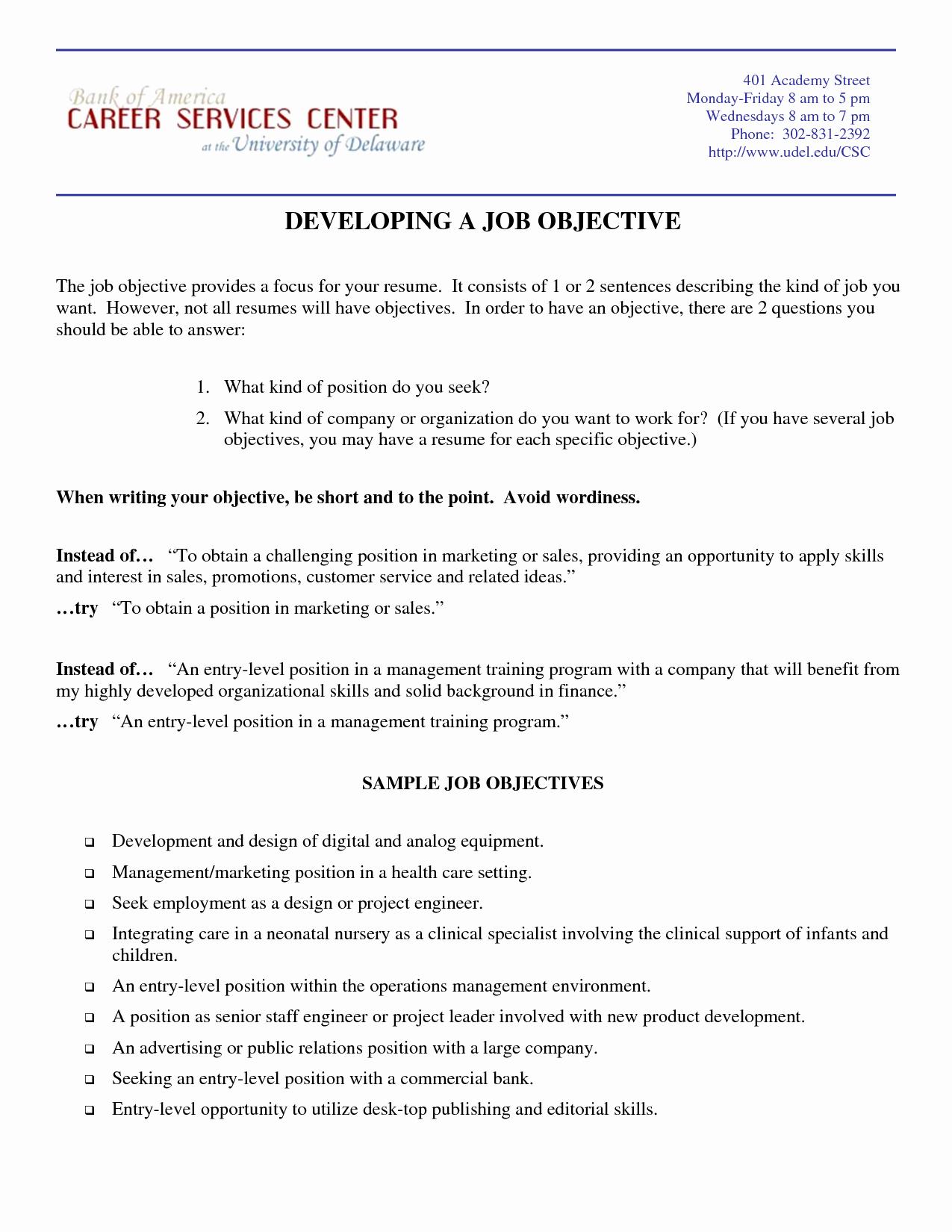 Marketing Resume Objective Samples