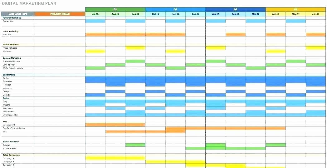 Marketing Schedule Template – Tefutefufo