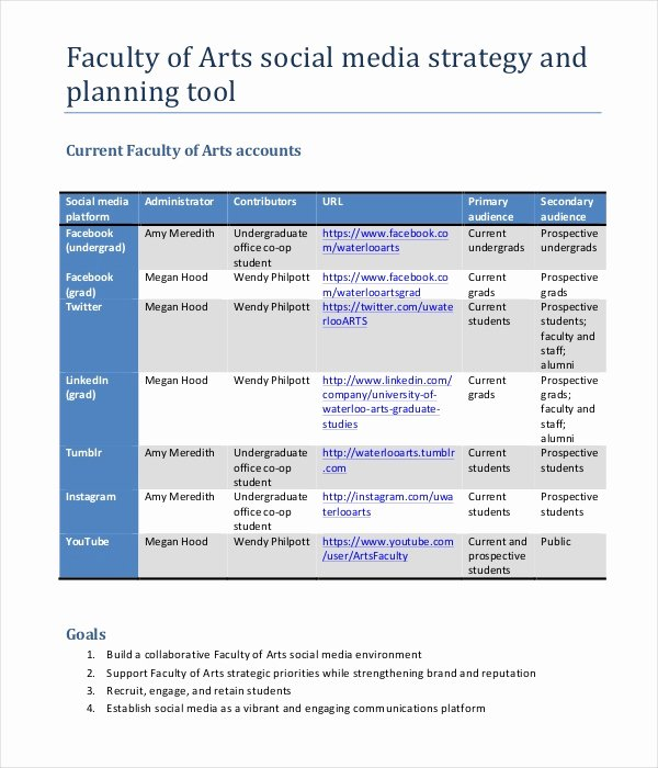 Marketing Strategy Plan Template 12 Word Pdf Documents