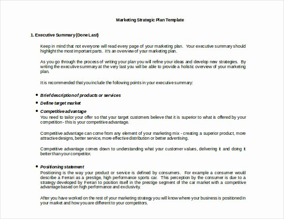 Marketing Strategy Templates – 19 Sample Example format