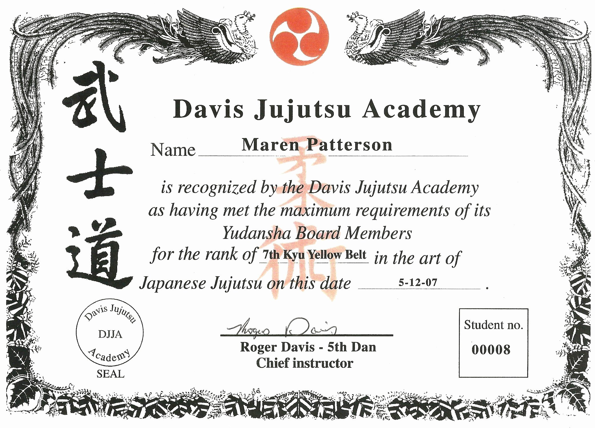 Martial Arts Certificate Templates