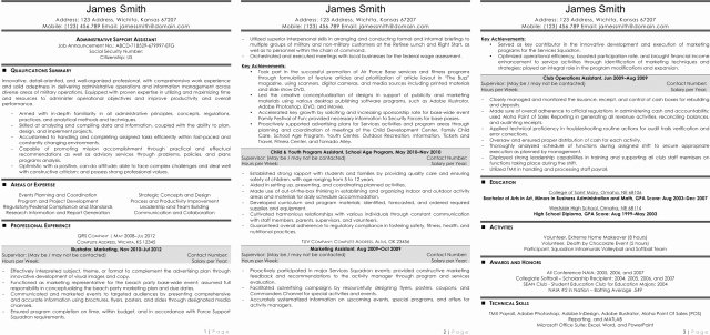 Marvelous Federal Resume Template Word format About