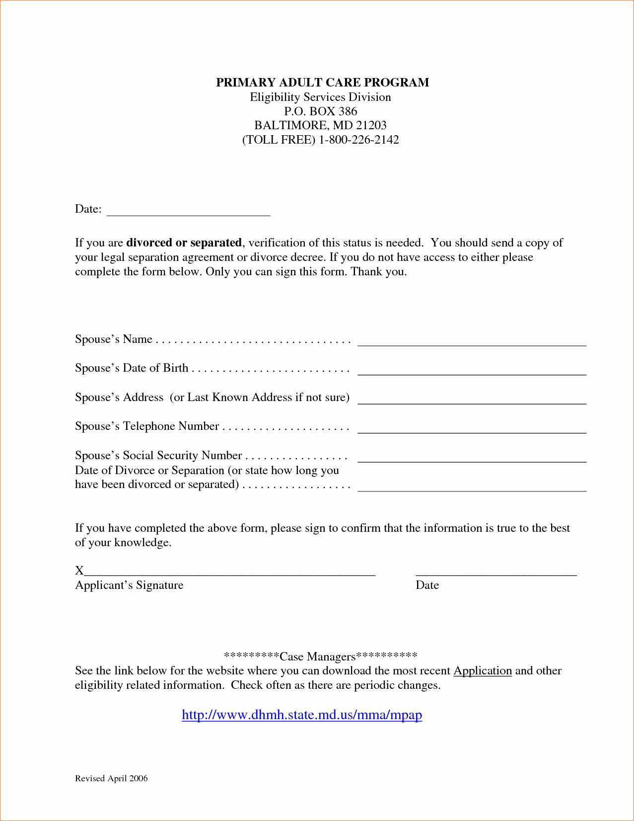 Maryland Separation Agreement Template Free Templates