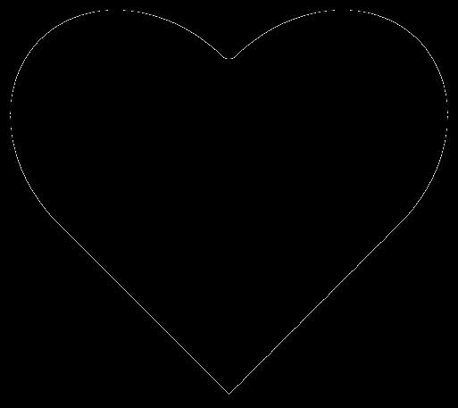 Mask Heart Outline by Alkalinepunk13