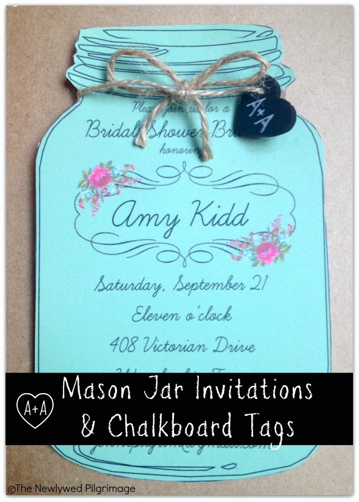 Mason Jar Invitations Template