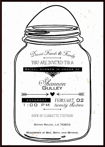 Mason Jar Printable Invitations Negocioblog