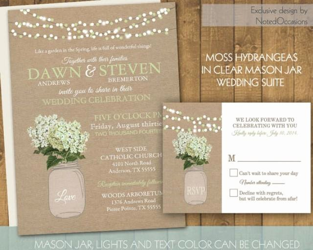 Mason Jar Wedding Invitation Rustic Mason Jar Country