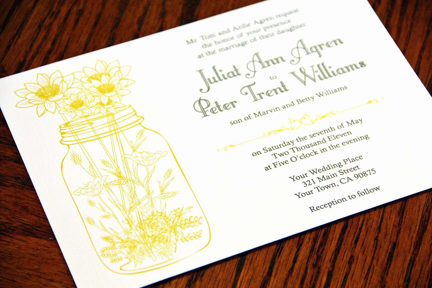 Mason Jar Wedding Invitations Invitation with Nice Design
