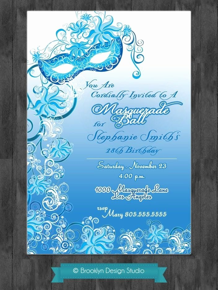 Masquerade Ball Invitation