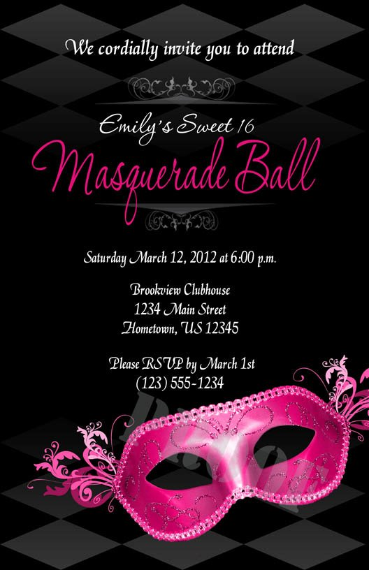 Masquerade Party Invitation Wording