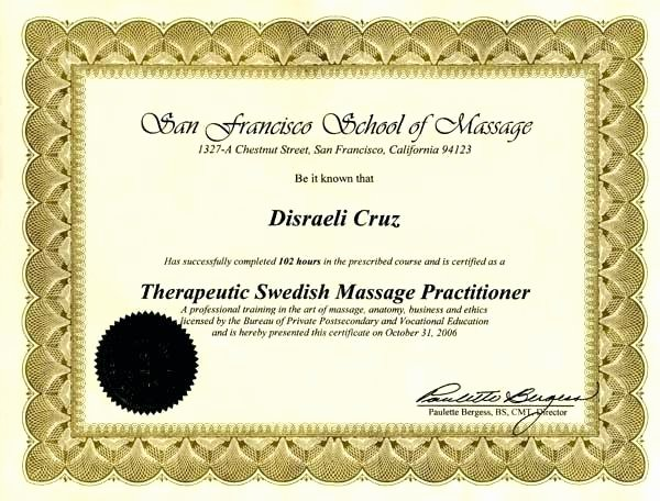Massage Certificate Template – Tailoredswift