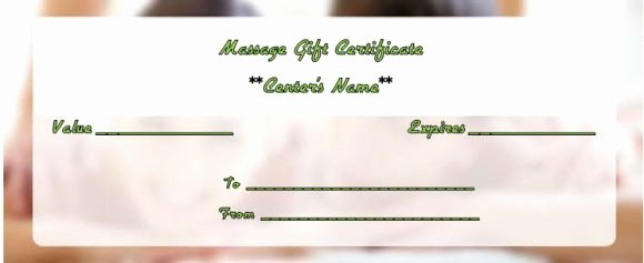 Massage Gift Certificate Template 14 Free Printable
