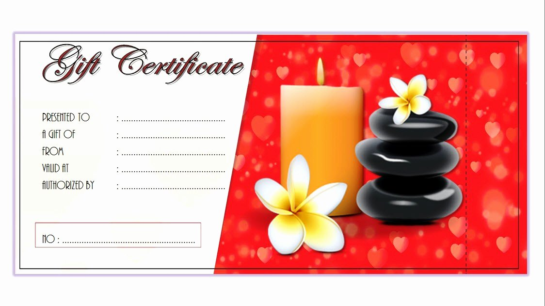 Massage therapy Gift Card Templates