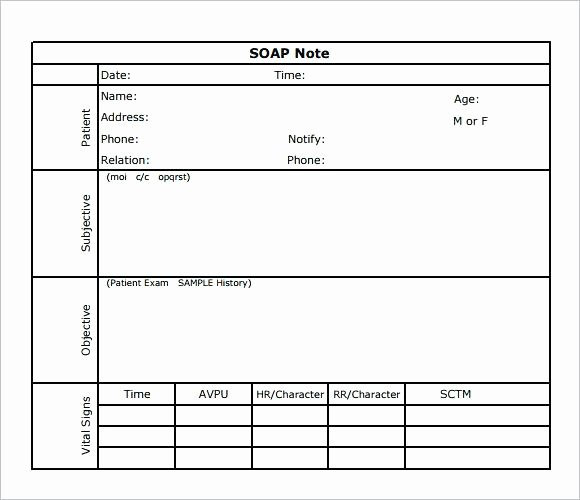 Massage therapy soap Note Charts Notes Templates Free