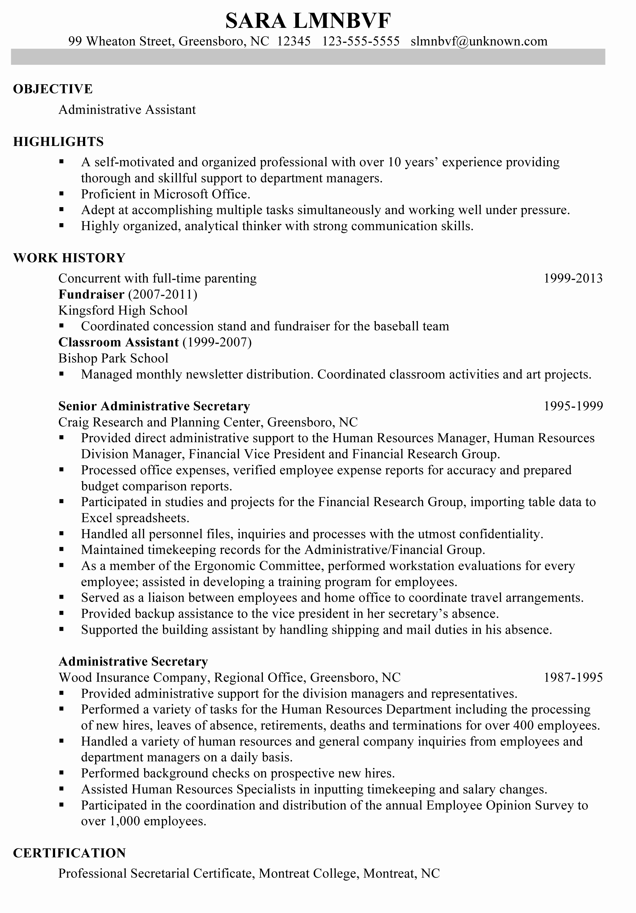 Matching Resumes Cover Letters References Susan