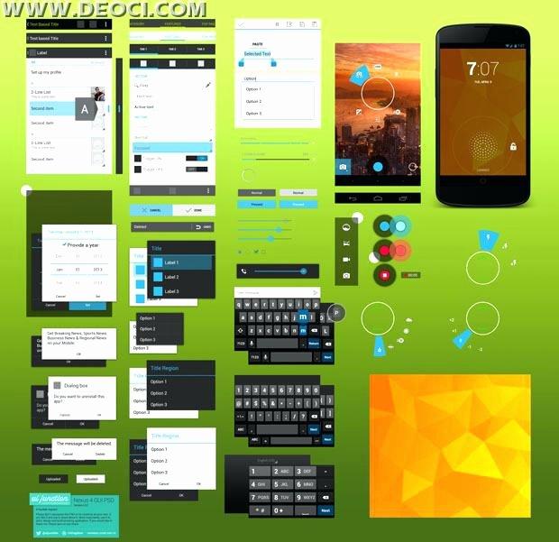 Material Design android Template theme App Studio