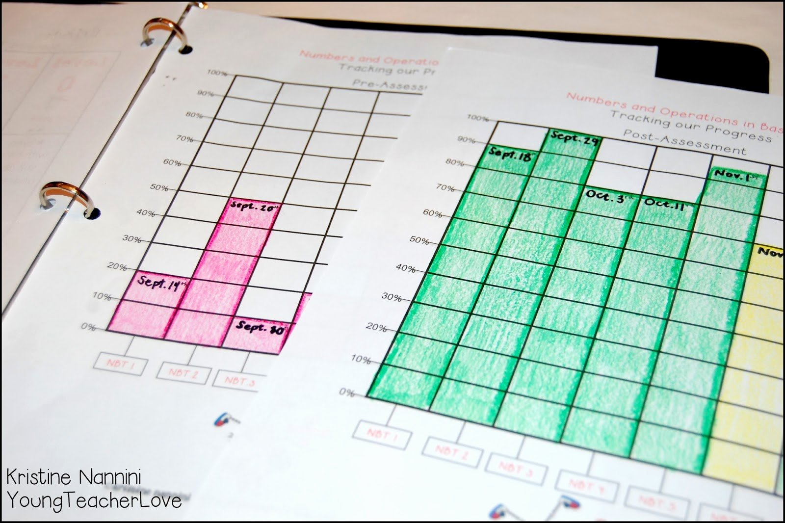 Math and Ela Student Data Tracking Binders and A Freebie