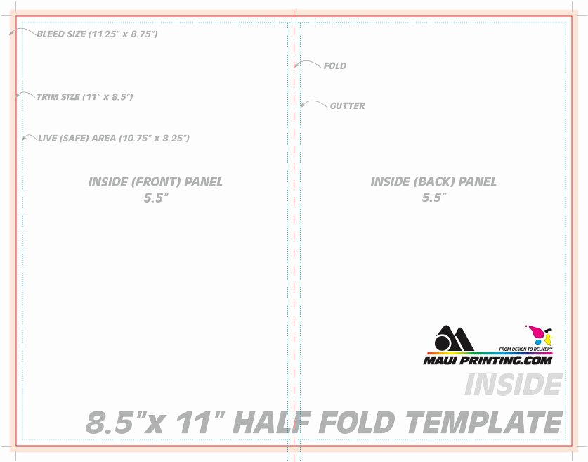 Maui Printing Pany Inc 8 5 X 11 Half Fold Brochure