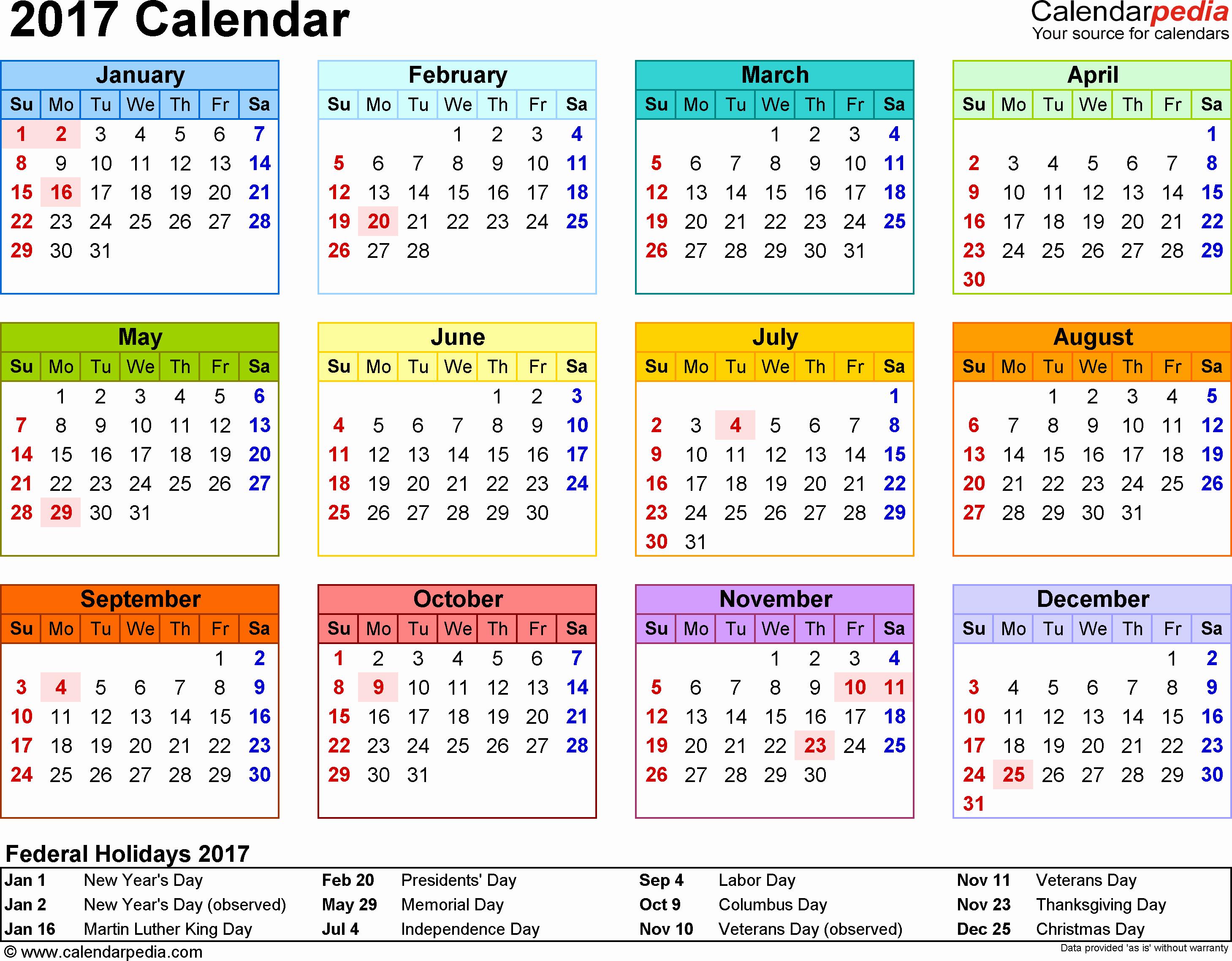May 2017 Calendar Excel