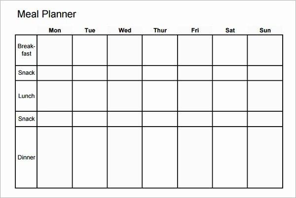 Meal Plan Calendar Aztec Line