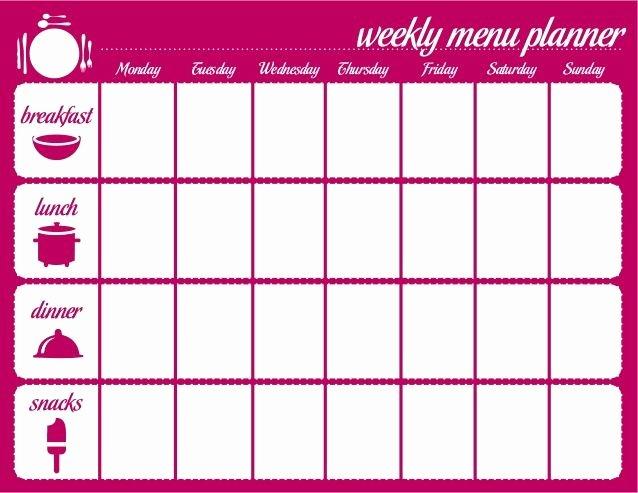 Meal Plan Calendar Template Google Search