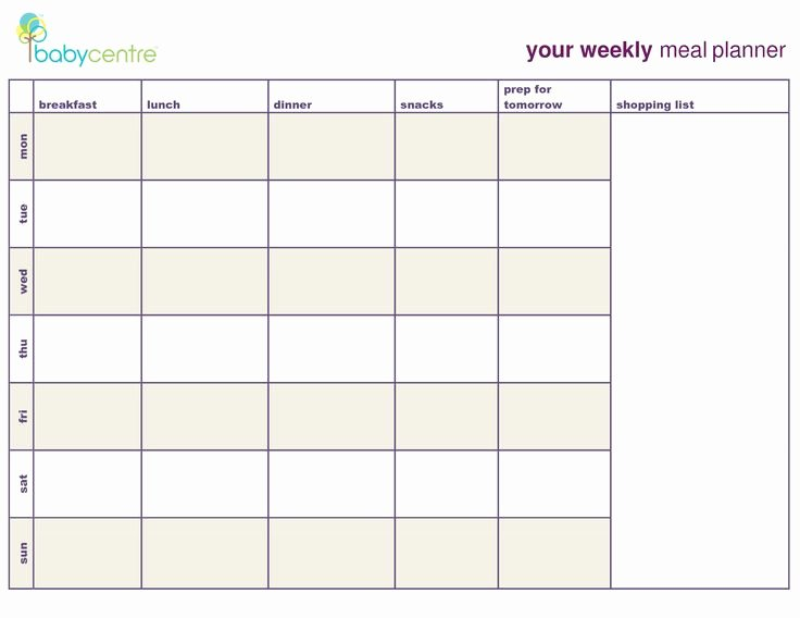 Meal Plan Template Google Search Coach