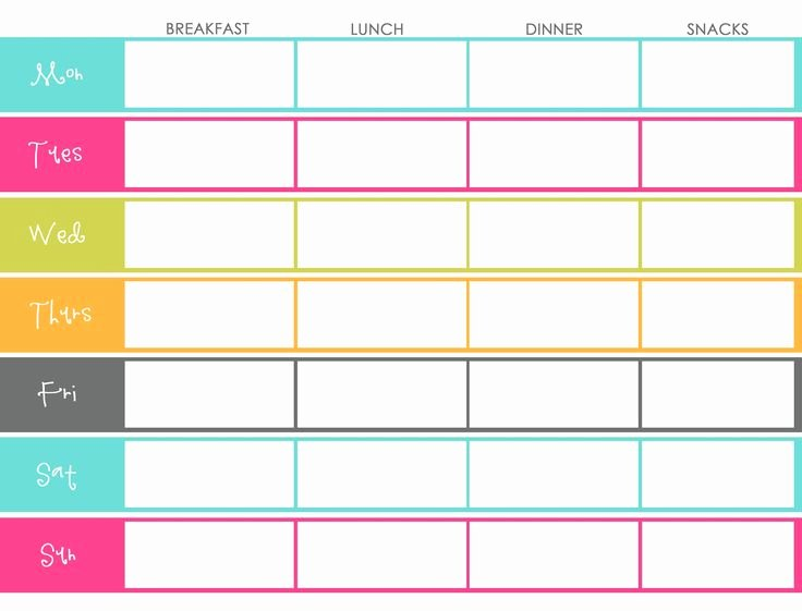 Meal Planner Template Line