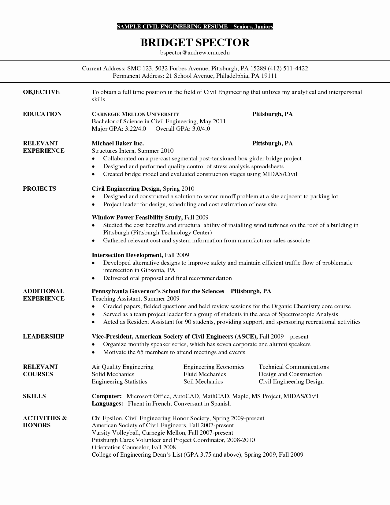 Mechanical Engineer Resume Objective Examples Sidemcicek
