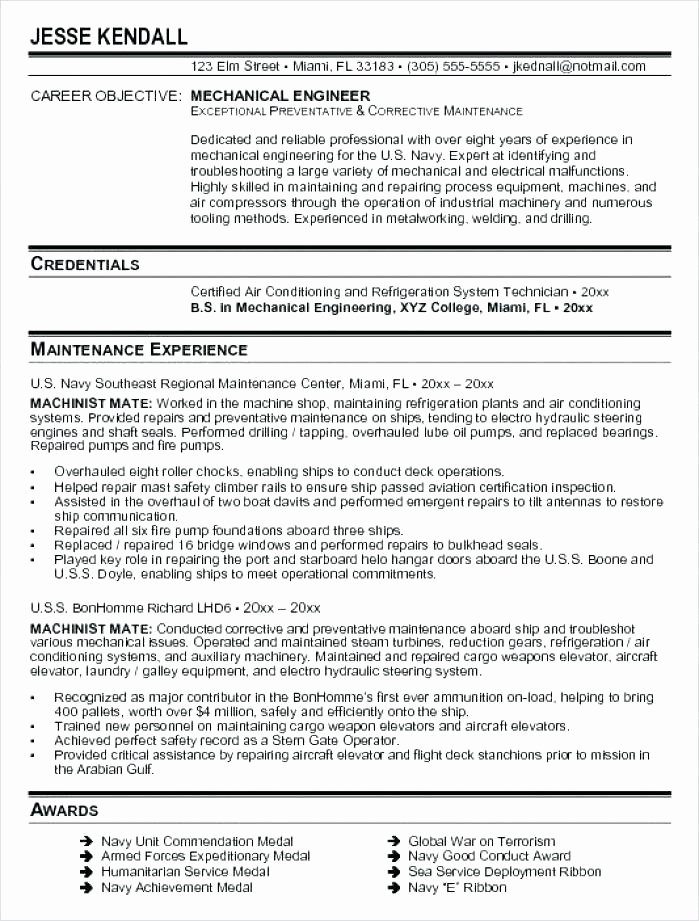 Mechanical Production Engineer Resume Resume Ideas
