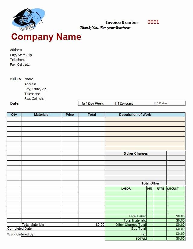 Mechanics Invoice