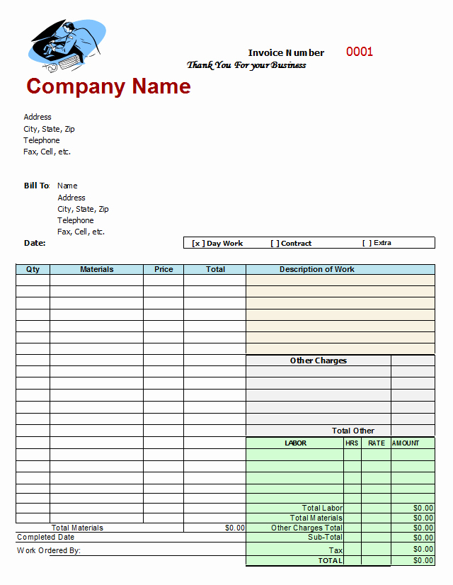 Mechanics Invoice