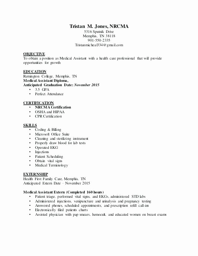 Medical Administrative assistant Objective Examples Resume