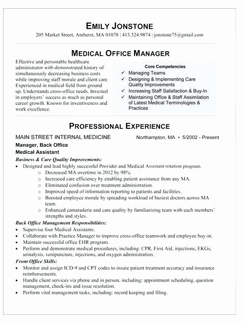 Medical assistant Description Resume Image