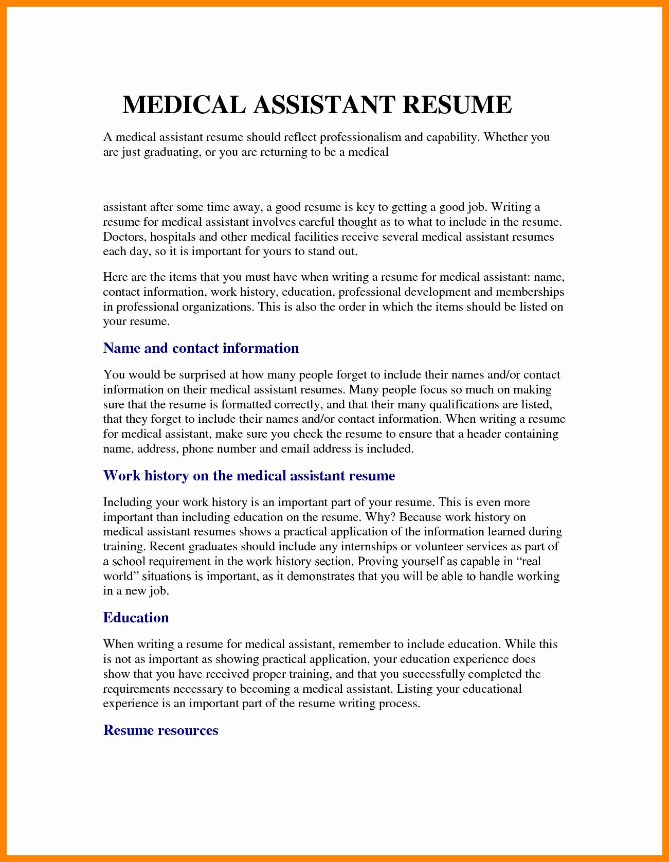 Medical assistant Resume Mission Statement