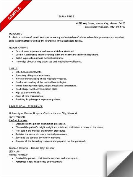 Medical assistant Resume Sample Limeresumes