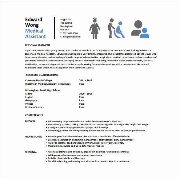 Medical assistant Resume Template – 8 Free Word Excel