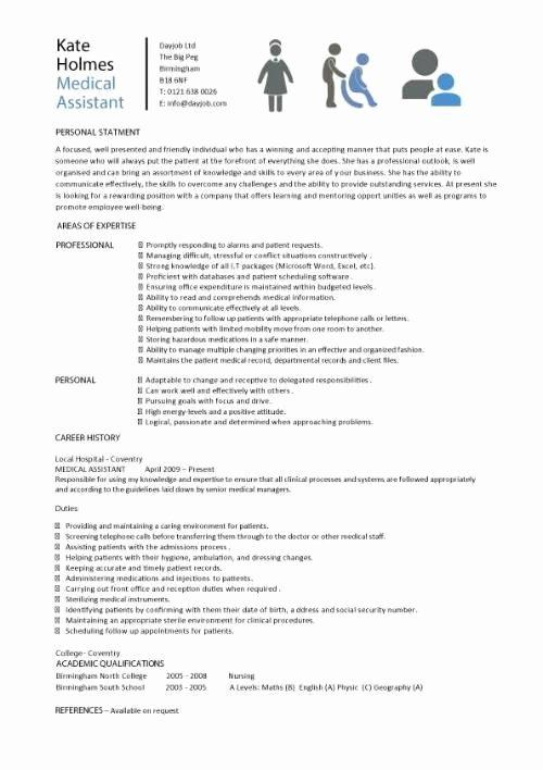 Medical assistant Sample Resume