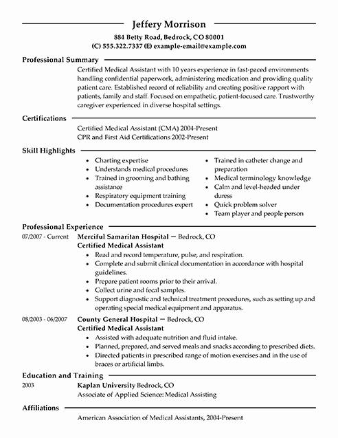 Medical assistant Skills Resume F Resume