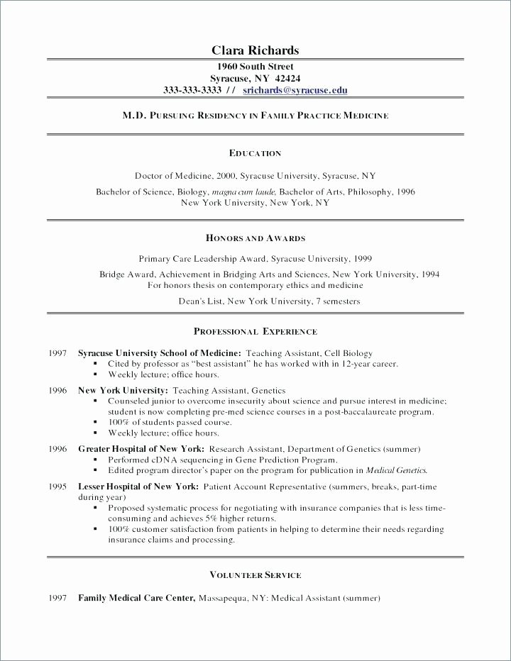 Medical assistant Student Resume No Experience Samples In