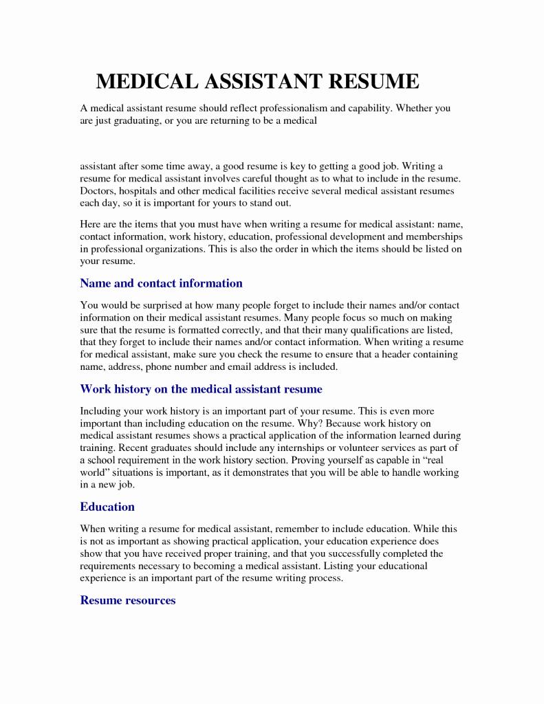 Medical assisting Resume Job Samples