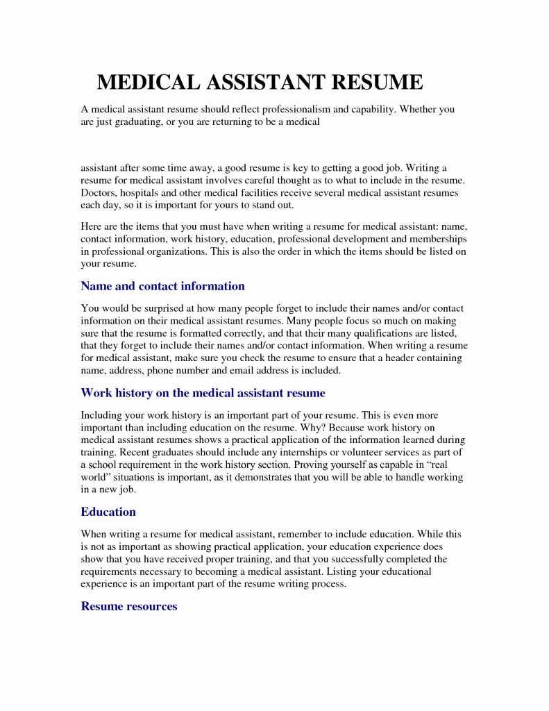 Medical assisting Resume Job Samples