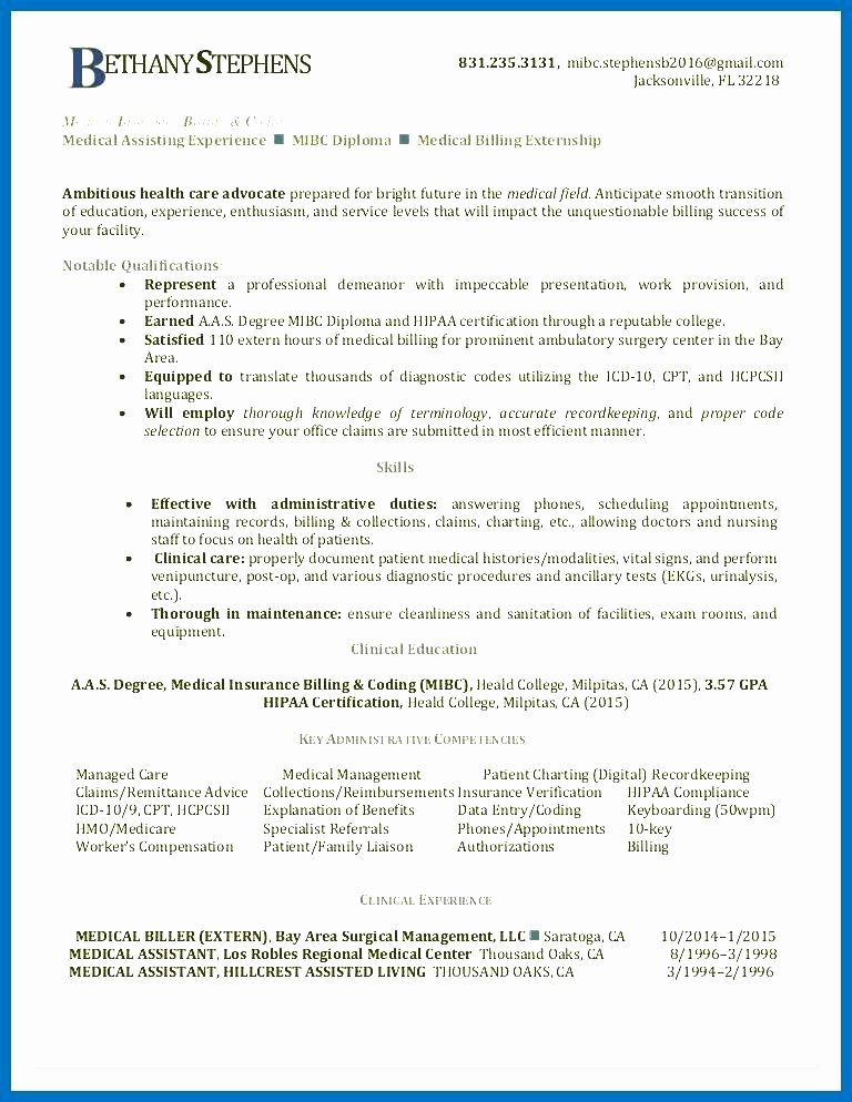 medical billing coding resume sample and resumes