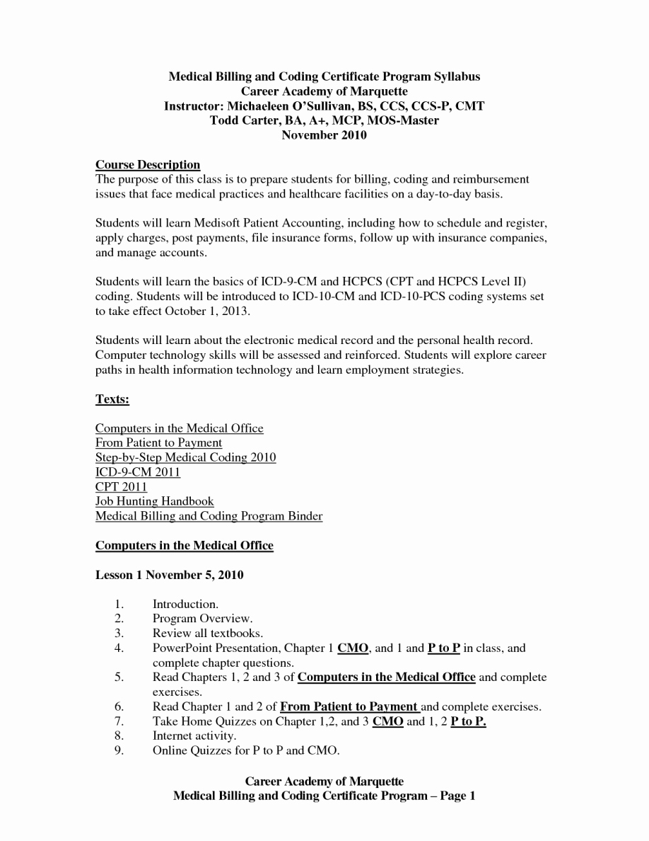 Medical Billing Resume Cover Letter Examples – Perfect