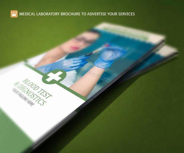 Medical Brochure Template Blood Test Lab On Behance