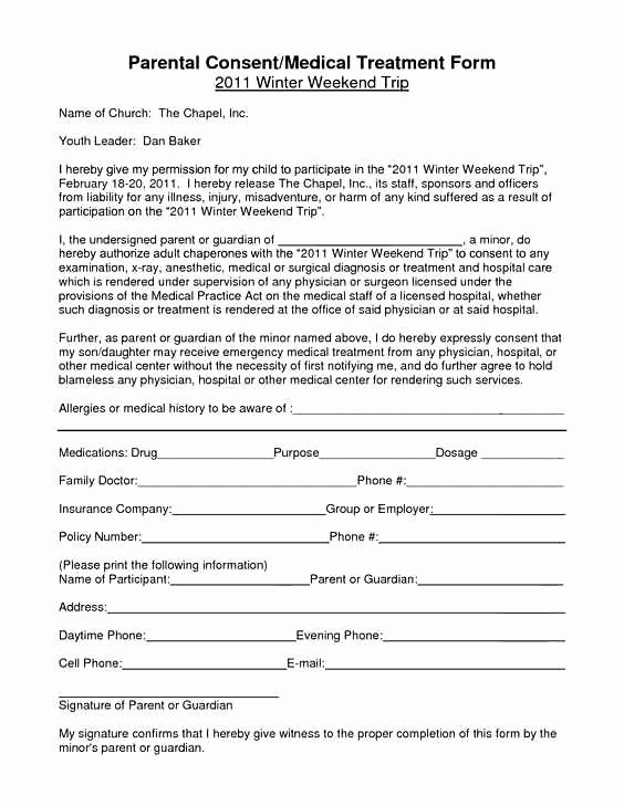 Medical Consent form Template – Medical form Templates