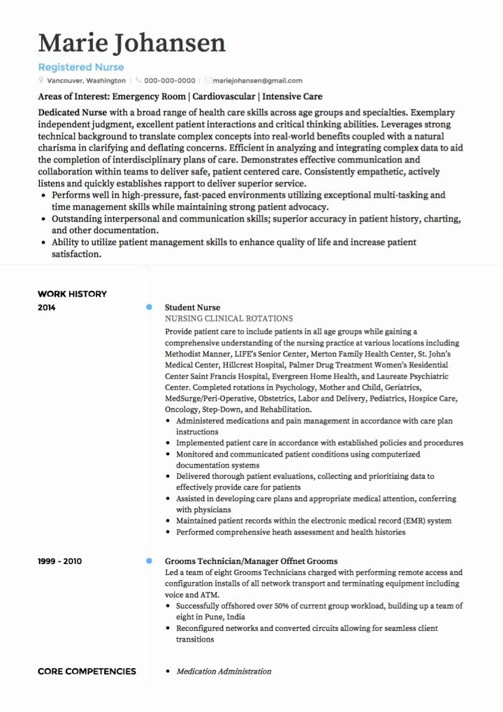 Medical Cv Examples and Template