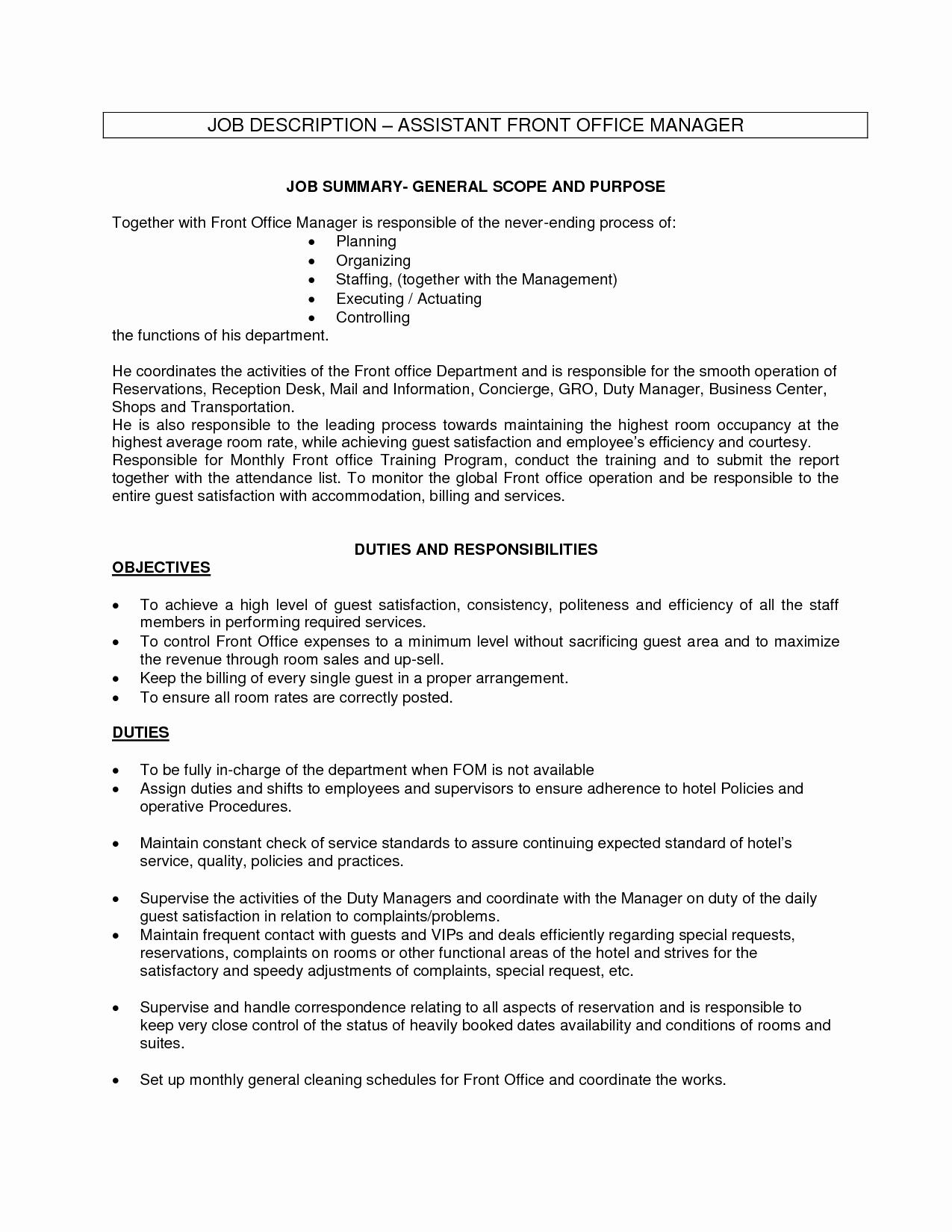 Medical Fice assistant Job Description for Resume