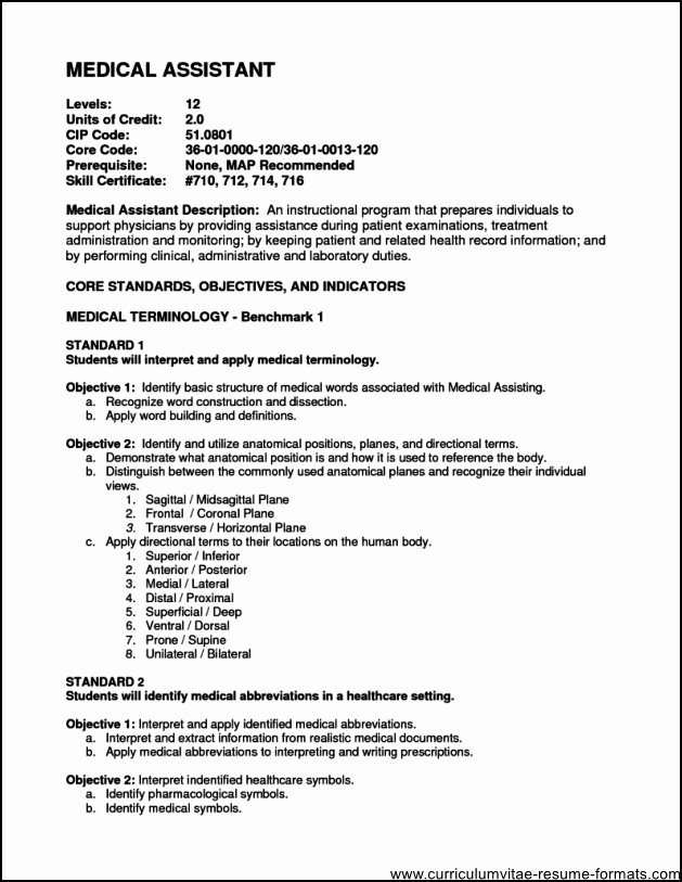 Medical Fice assistant Resume Objective Free Samples